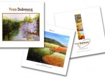 Catalogue pour Yvon Dubreucq artiste peintre