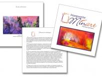 Catalogue pour Marguerite Minart artiste peintre