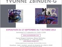 Encart publicitaire pour Yvonne Zbinden